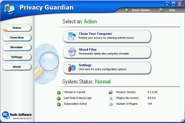 Programm Privacy Guardian 1