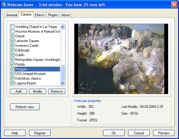 Programm Webcam Saver 1
