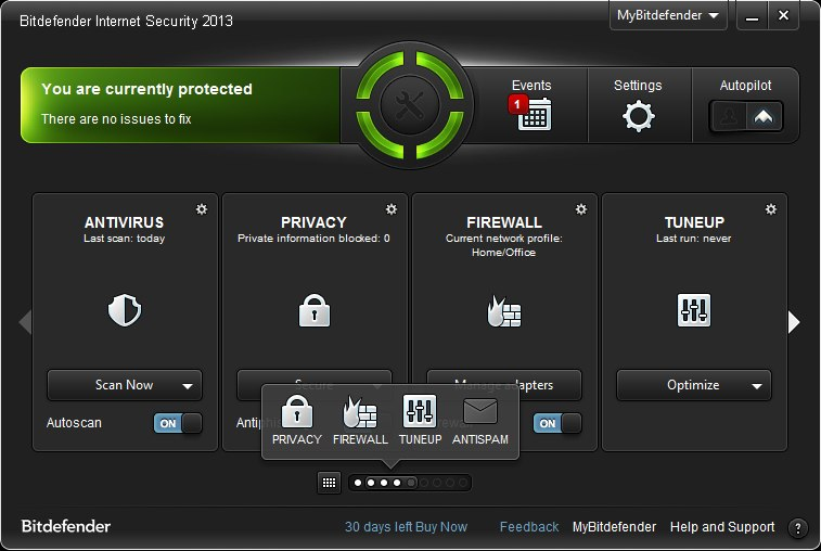 Programm BitDefender Internet Security 1