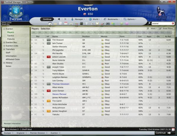 Spiel Football Manager 2009 3