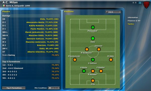 Spiel Football Manager 2009 1