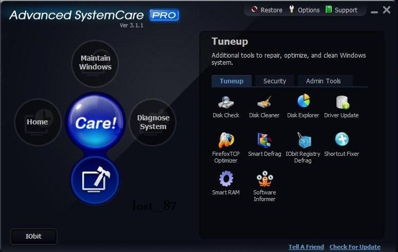 Programm Advanced System Care 1