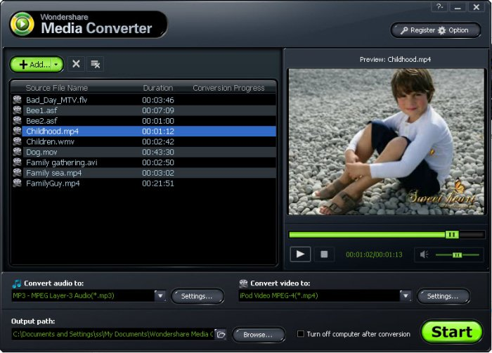 Programm Wondershare Media Converter 1